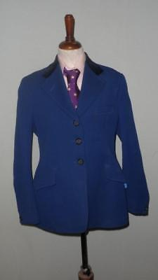 Vintage Caldene Childrens Riding/Competition/Show Royal Blue Jacket - 28""