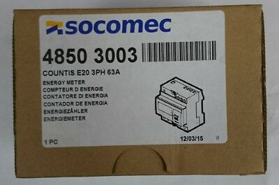 Socomec Countis E20 LCD Digital Power Meter  3 Phase Accuracy Class 1 4850 3003