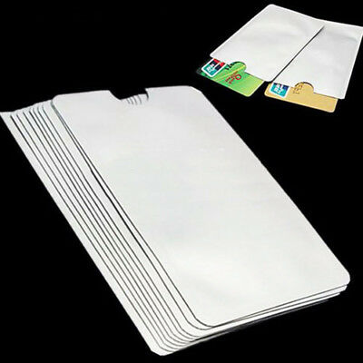 10x For RFID Secure Protector Blocking ID Credit Card Sleeves Holder Case Skin