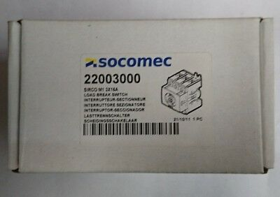Socomec Sirco M1 3X16A Load Breaker Switch 22003000