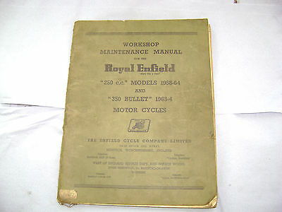 Royal Enfield 250 / 350 original workshop manual