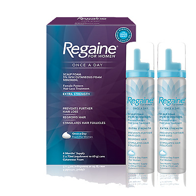 Regaine For Women Extra Strength Foam 4 Month Supply