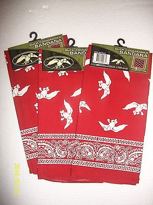 Duck Commander Red Bandanas 3  21''x21'' Duck Dynasty 3 qty. buy it now get 4