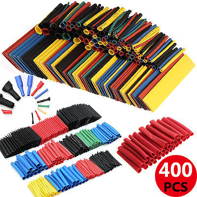 400Pc Car Assorted Electrical Cable Heat Shrink Tube Tubing Wire Wrap Sleeve Kit