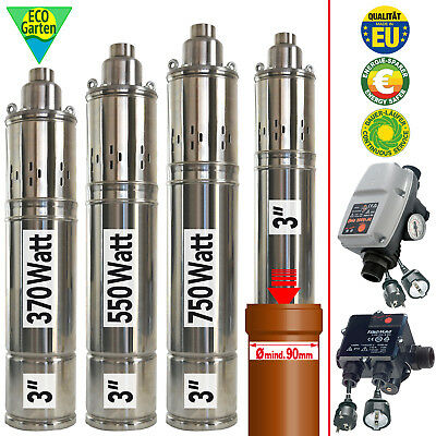 Deep Well Pump Borehole Water Submersible Flow Monitor Control Automatic Switch