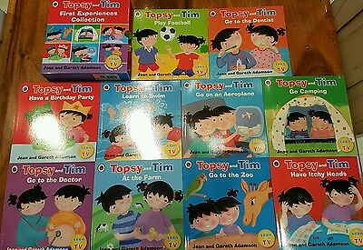 Topsy and Tim Stories 10 Books Set Collection Learn To Swim, Play Football