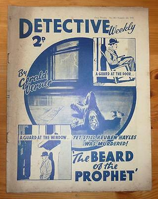 DETECTIVE WEEKLY No 246 6TH NOV 1937 THE BEARD OF THE PROPHET BY GERALD VERNER