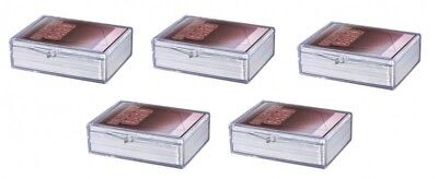 5 x Ultra Pro Hinged Clear Box pour 50 cartes storage cards boîte case 430037