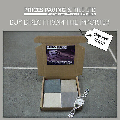 TRY BEFORE YOU BUY - Natural Indian Sandstone Patio Paving Samples - 7 Colours!