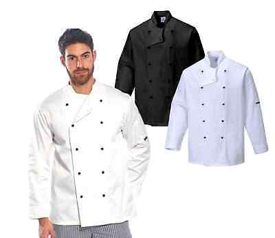 Portwest C834 Somerset Unisex Chef Jacket Polycotton Catering Restaurant Uniform