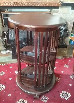 Antique  rotating library   Bookcase   table