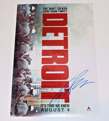 DIRECTOR KATHRYN BIGELOW SIGNED 'DETROIT' 12x18 MOVIE POSTER PHOTO W/COA PROOF