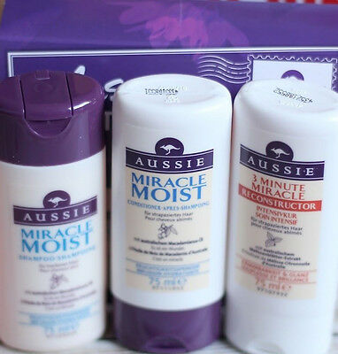 AUSSIE 4,40€/100ml ★ Aussome Hair Travel Set ★ Miracle Moist & 3 Minute Miracle