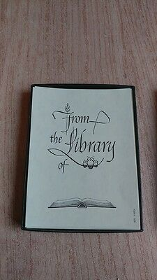 Antioch Bookplate Company - From The Library Of - 27 Bookplates -- FREE Shipping