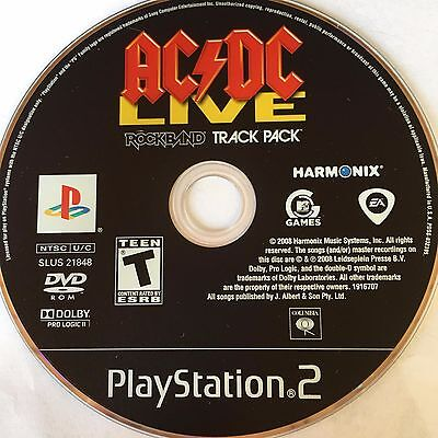 AC/DC LIVE: ROCK Band Track Pack (PlayStation 2) PS2 - $5 95