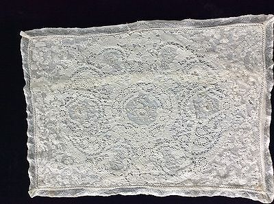 Cutwork victorian lace pillow cover no reserve
