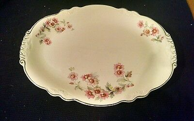 1936 Homer Laughlin Virginia Rose Serving Platter, 12 Inches Long