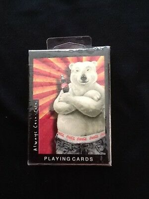 Coca Cola BEAR Sealed Deck Playing Cards from 1997 Polar Bear