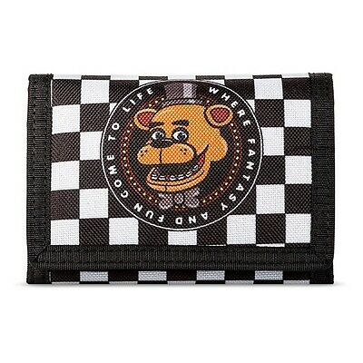Boys Five Nights at Freddy's FNAF Trifold Wallet - Black/White