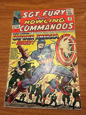 SGT FURY And His HOWLING COMMANDOS # 13 CAPT AMERICA APPEARANCE
