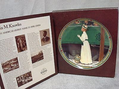 """1986 Norman Rockwell Knowles Collector Plate """"A Mother's Welcome"""" MIB"""