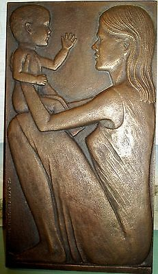 Michael Meszaros Mother & Child 1994 Bronze Australian Art Sculpture