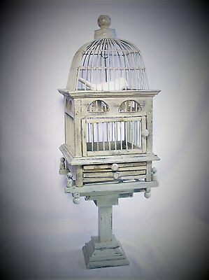 Antique / Vintage Style Dome Top Victorian Wood Wire Bird Cage Birdcage
