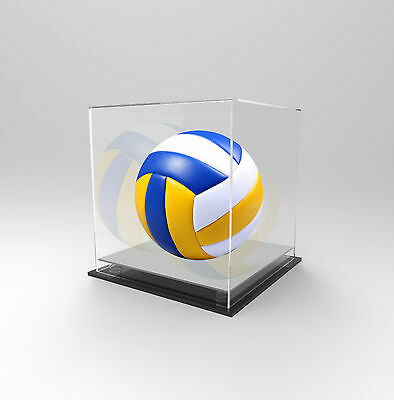 Volleyball Deluxe Display Case Acrylic Perspex - Competition Ball - SILVER