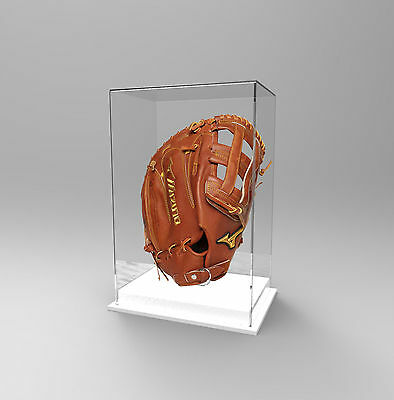 Baseball Glove Display Case Deluxe - Acrylic Perspex - WHITE