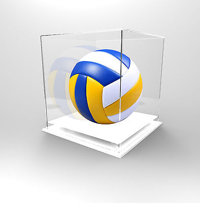 Volleyball Deluxe Display Case Acrylic Perspex - Competition Ball - WHITE