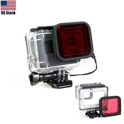 Waterproof Diving Housing Protective Case + Filter for GoPro Hero 5 Sport Camera