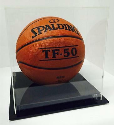 Basketball Deluxe Display Case Acrylic Perspex - Competition Signed Ball - BLACK