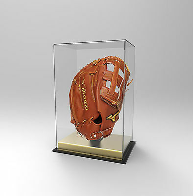 Baseball Glove Display Case Deluxe - Acrylic Perspex - GOLD