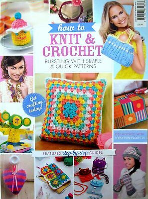 HOW TO KNIT & CROCHET - simple and quick patterns with step-by-step guides - VGC