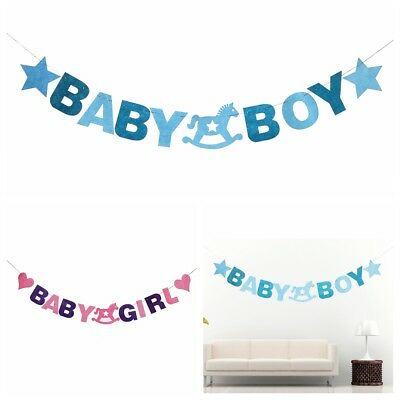 Baby Shower 2.88M Baby Boy Girl Felt Banner Party Decoration Bunting Party Favor