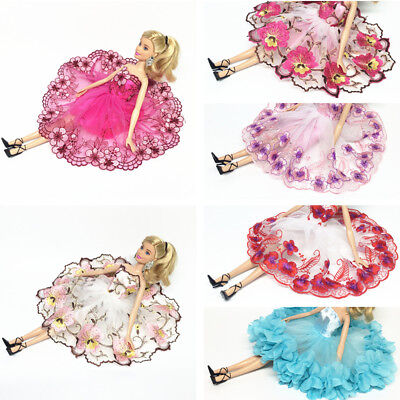 "3-8pcs Handmade Fashion Floral Dress Skirt Set for 11"" 30cm Barbie Doll Hot Lot"