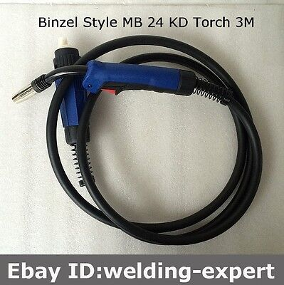 Magnum Welders Binzel Mig Torch Series 24 Euro Style fitting with 3 Metre lead