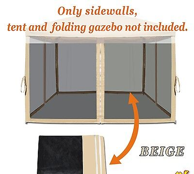 Screen Room Mesh Side Walls for 10'  x 10' Tent Outdoor Pop Up Canopy