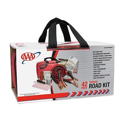 Auto Safety Car Supply Vehicle AAA Roadside Emergency Assistance Kit 42Piece New