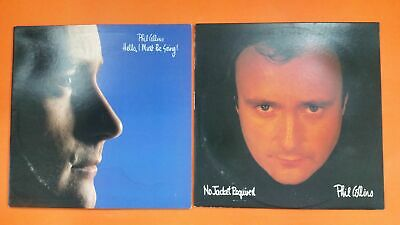 PHIL COLLINS Hello I Must Be Going & No Jacket LP Vinyl VG++ Cover VG+ 2 Lot