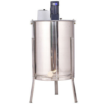 Electric 4 Frame Stainless Steel Honey Extractor Beekeeping Equipment HD New