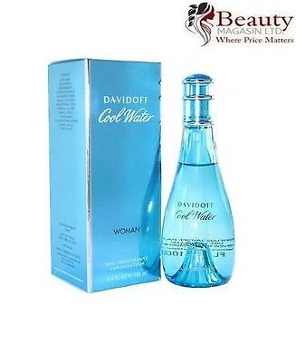 Davidoff Cool Water Woman 100Ml Eau Deodorante Natural Spray Brand New & Boxed *