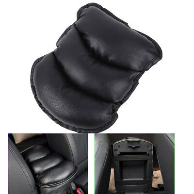 PU Car SUV Center Box Armrest Console Soft Pad Cushion Cover Durable Wear Black