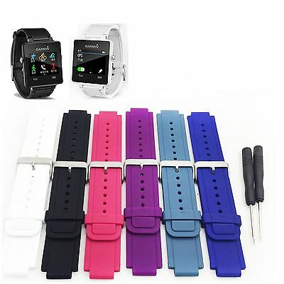 Replacement Wrist Band Silicone Watch Band Strap for Garmin Vivoactive + Tools