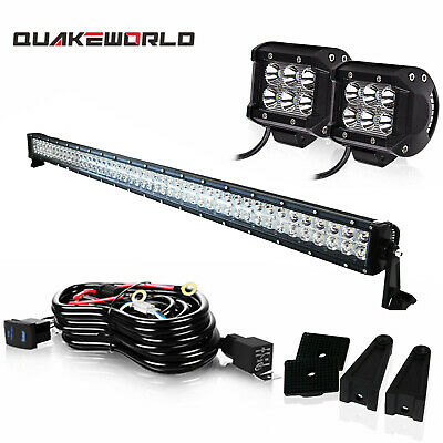 54 inch Led Work Light Bar Curved For Marine Boat Seadoo Side By Side UTV Teryx