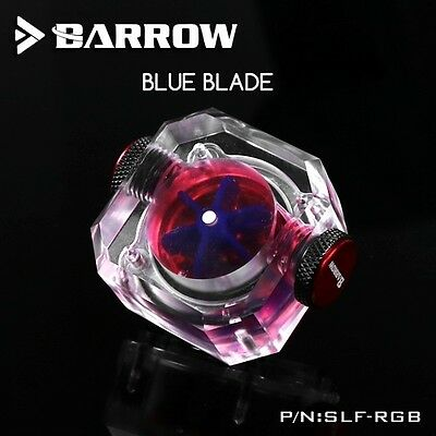 Barrow Square RGB Flow Meter -  Blue Impeller