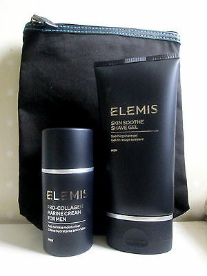 Elemis Men Pro-Collagen Marine Cream 30ml & Skin Soothe Shave Gel 150ml RRP £77+