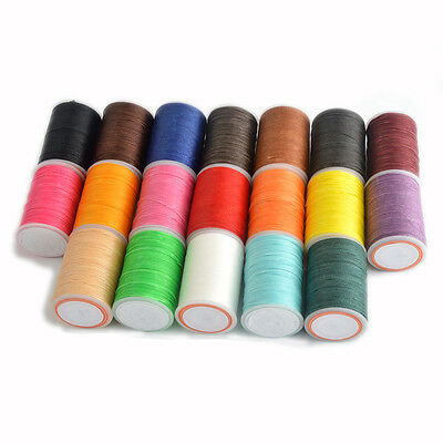 78m/85yards 0.65mm 19 Colors Spool Round Waxed Sewing Thread For Leather Craft