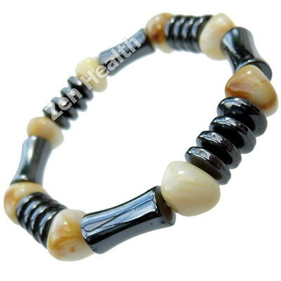 Natural Hematite Magnetic Healing Bracelet For Stress / Pain / Arthritis