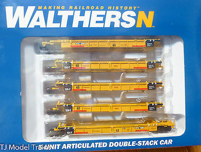 Walthers N SCALE 8108 Thrall Articulated 48ft Well Cars